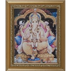 Framed Picture of Lord Ganesha Lord Ganesha, Marigold, Picture Frames, 50th, Create Your Own, Princess Zelda, Culture, Indian, Pictures