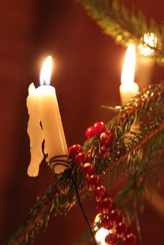 Danes traditionally light the Christmas tree with real candles. This takes great care, of course...and a fire extniguisher nearby!