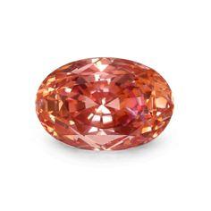 Oval Padparadscha Sapphire, pinkish orange, 6.93 carats by Eva