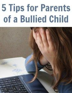 Don't miss these 5 Bullying Facts & Tips for Parents of a Bullied Child! These resources will help you to help them conquer their bullying issues.