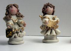 Come fare un angelo in piedi in pasta di mais/ceramica fredda 1° prima p...