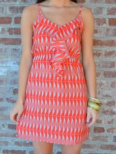 Ruffle Print Dress - $42.00 : ShopBloved, Live Laugh and Bloved
