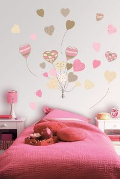 The Wall decoration can give a new life to the home , giving a more vivid design to a room with white walls or also for neutral colors. Baby Bedroom, Bedroom Wall, Girls Bedroom, Bedroom Decor, Wall Decor, Wall Art, Girls Room Paint, Girl Room, Decoration