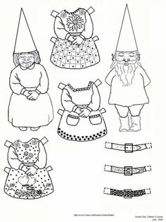 aprons-and-belts gnome paper Dolls