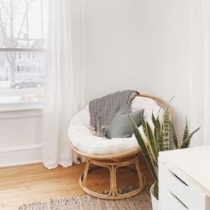 Our Papasan frame is handcrafted of natural—and naturally durable—rattan, with a lacquer finish. Bedroom Corner, Room Ideas Bedroom, Bedroom Decor, Comfy Bedroom Chair, Cozy Chair, Papasan Cushion, Papasan Chair, Meditation Corner, Meditation Chair