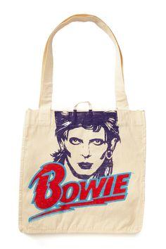 David Bowie Canvas Tote Bag