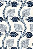 Nurata Embroidery in Lapis from Schumacher #rayon #linen #cotton