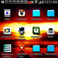 Captura de pantalla: algunas aplicaciones y carpetas para tu escritorio Android pic.twitter.com/7n5mRgUWcz