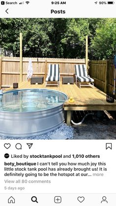 Small Backyard Pools, Backyard Pool Designs, Backyard Projects, Outdoor Projects, Backyard Patio, Stock Pools, Stock Tank Pool, Pool Ideas, Redneck Pool
