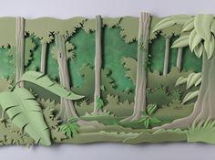 paper sculpture techniques - Google Search
