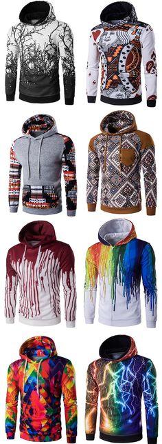 Men's hoodies, men's tops
