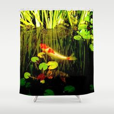 Koi in my Pond Shower Curtain by crismanart Koi, Framed Art Prints, Wall Tapestry, Shower Curtains, Artist, Beautiful, Home Decor, Decoration Home, Room Decor