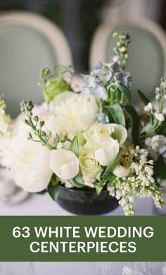 63 White Wedding Centerpieces | Martha Stewart Weddings - Just as there are many flowers that come in the classic color, so are there many ways to arrange them. Which is why the white wedding centerpiece will never go out of style. Put your own twist on the wedding staple for it to feel fresh and modern. For inspiration, turn to these ideas that we adore from real celebrations.