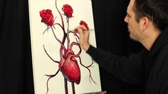 Surreal time lapse acrylic painting Growing Heart Series by Tim Gagnon Online Lessons, Art Lessons, Painting Videos, Surrealism, Artsy, Elevator, Abstract Paintings, Lady, Heart