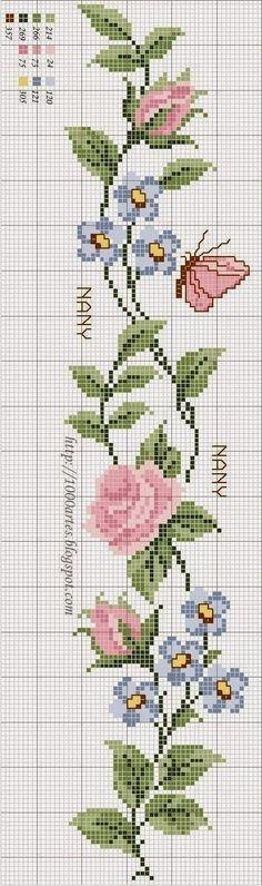 Artesanía: Rosas para punto de cruz bordado / Cross rosas puntada