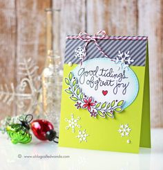 Such a Pretty card created by Wanda Guess using New Simon Says Stamp from the Create Joy release.
