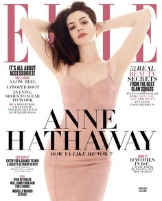 Anne Hathaway for Elle US April 2017 Cover - Dolce&Gabbana