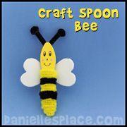 beatitudes arts and craft ideas | bee-craft-craft-spoon-bee-craft-sm.jpg