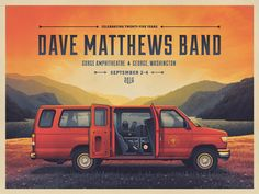Dave Matthews Band Gorge Poster by DKNG - Dribbble
