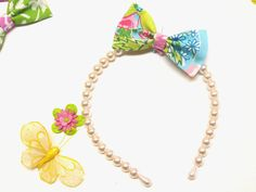 Lilly Bows and Pearls headbands