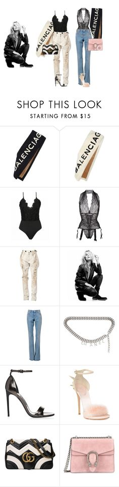 """""""Untitled #52"""" by anna-hauge ❤ liked on Polyvore featuring Balenciaga, FOLIES BY RENAUD, Faith Connexion, Superfine, Gucci, Chanel and Giuseppe Zanotti"""