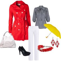 Rainy Day Career Outfit....just try to avoid the puddles! :)