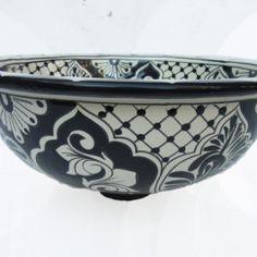 Ceramic Basin Small - A (Black & White)