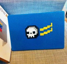 Flying Skull MacBook Case from BrikBook.com flyings kull, skull, bones, black and white, horror, skeleton, macbook, macbook case, pixel, pixel art, 8bit Shop more designs at http://www.brikbook.com #flyingskull #skull #bones #blackandwhite #horror #skeleton #macbook #macbookcase #pixel #pixelart #8bit