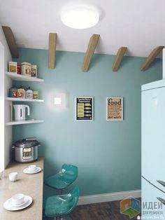 Расстановка мебели на кухне, барная стойка, стол-подоконник на кухне