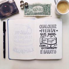 Projeto Primeiro Rabisco espalha positividade através de frases e handlettering