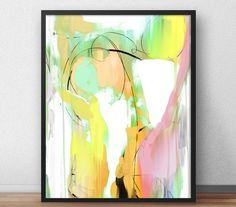Summer Abstract art painting Printable abstract by DanHobdayArt