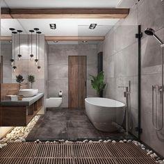 "247 Likes, 14 Comments - Ekaterina Filippova (@katya_fill) on Instagram: ""Bathroom design ⚡️#interior #designinterior #design #project #loft #loftdesign #bathroom…"""