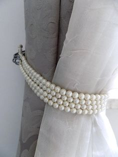 Faux pearls Decorative tie backs curtain holders drapery
