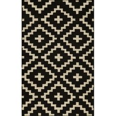 [Free Shipping] when you buy Momeni Laguna Black Geometric Rug at AllModern - Great Deals on all  products with the best selection to choose from!