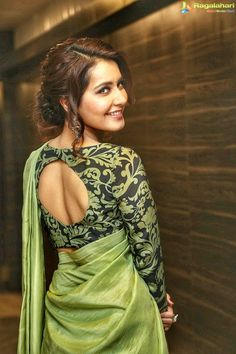Pista green saree and blouse