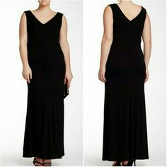 "NWT ALLEN SCHWARTZ sleeveless black dress Versatile, flattering dress! NWT.  Bust, laying flat: 20""  Length,  from highest to lowest point:  62"" Third photo features inset detailing on the bust (i.e. darted, tailored flattering fit) Such a wardrobe must-have! ABS Allen Schwartz Dresses Maxi"