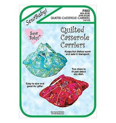 Sew Baby Quilted Casserole Carrier Pattern SBF883