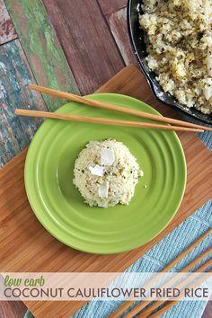 Low Carb Coconut Cauliflower Fried Rice