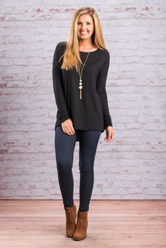 """""""The Basic Chic Top, Black"""""""