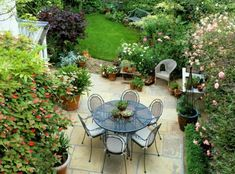 fragrant outdoor dining room