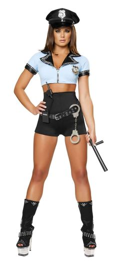 Roma Costume 4398-8Pc Sexy Police Woman