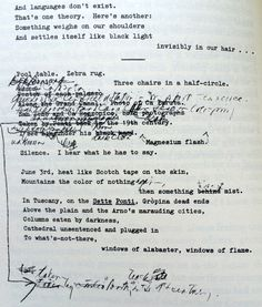 "A manuscript page from ""Reading Rorty and Paul Celan One Morning in Early June,"" an unpublished—or at least unpublished ca. 1989—poem by Charles Wright, who is America's next poet laureate."