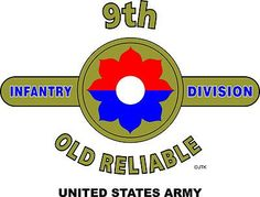 """9th Infantry Division """"Old Reliables"""" United State Army Shirt.  WORLD WAR II  Mediterranean & European Campaigns: Algeria-French Morocco* Tunisia* Sicily* Normandy* Northern France* Rhineland* Ardennes-Alsace* Central Europe.  (August 1945 Location: Bayreuth Germany)  (Killed In Action: 3,856)  (Wounded In Action: 17,416)  (Died Of Wounds: 648)"""