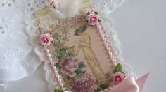 Handmade Gift Tag Lace Tag Edwardian Lace by underthenightmoon