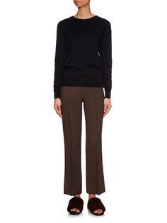 Flared-leg cropped crepe trousers | Raey | MATCHESFASHION.COM UK