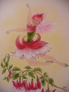 Ja, tanzen konnte sie, das Fuchsia-Elfchen, das mussten die andern Blumenelfen schon zugeben. Sie war die Prima-Ballerina vom ganzen Garten...  Aus meinem Märchenbuch von  Christl Vogl