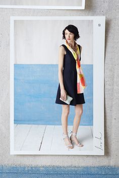 """If you're a frequent reader of these posts, you know by now that Christina, our personal stylist, is a fan of versatility. Actually, """"fan"""" vastly understates her zeal for items that can be dressed up, down and all around. In fact, when it came time for her to style our Textured Double-V Dress, we had …"""