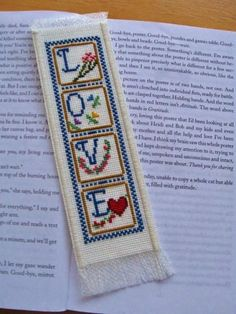 Hand Stitched and Lined Completed Cross Stitch Bookmark