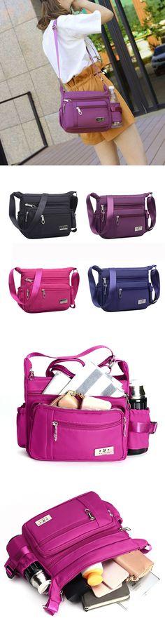 Nylon Light Multi-pockets Shoulder Bag Crossbody Bags For Women
