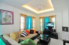 Myhaybol - photo gallery of real homes in the Philippines showcasing Filipino architecture and interior design. Kitchen Ceiling Design, Simple Kitchen Design, Ceiling Design Living Room, Home Ceiling, False Ceiling Design, Living Room Designs, Ceiling Ideas, Rustic Barn Homes, Philippines House Design